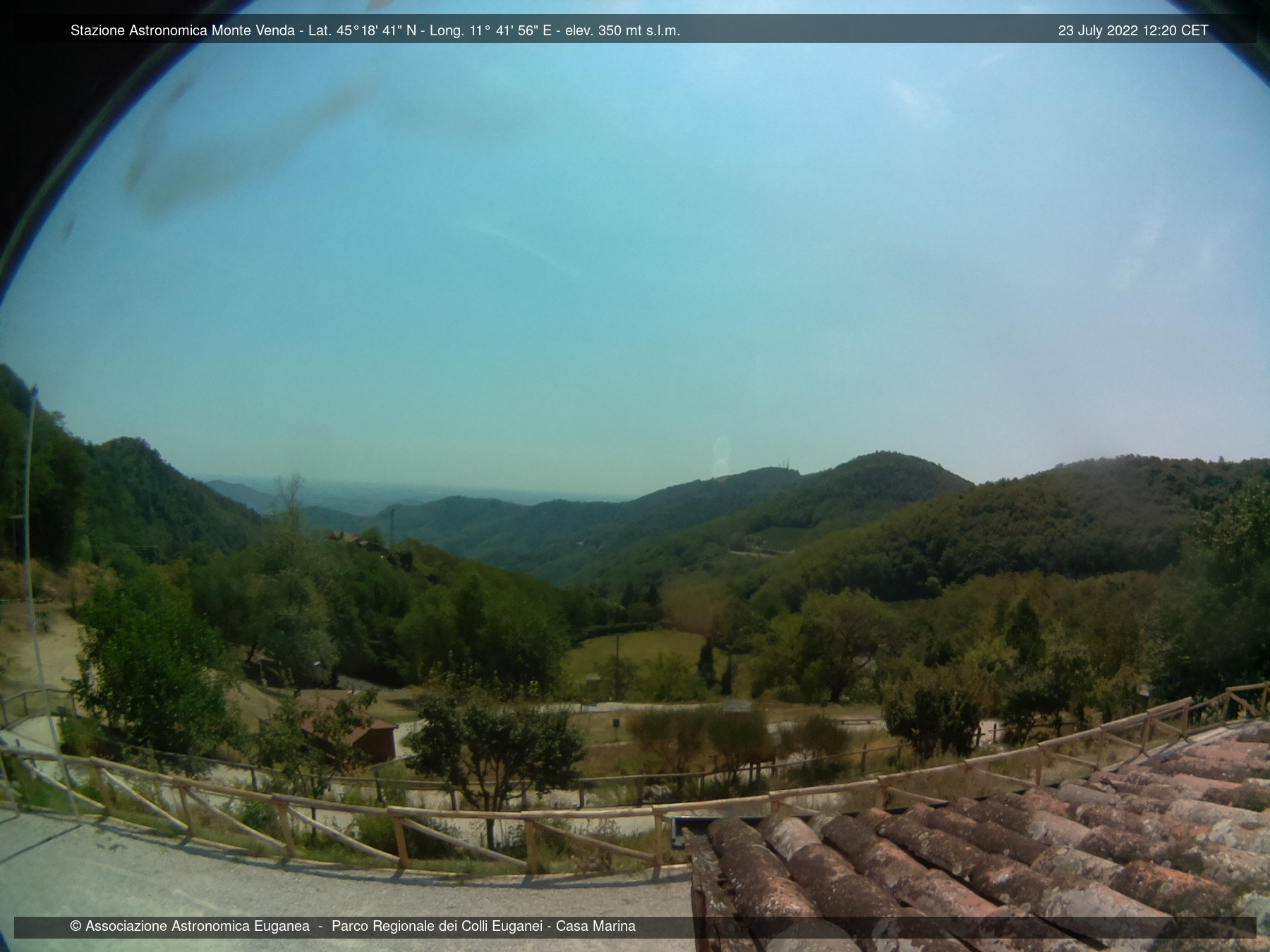 Webcam Colli Euganei (PD) Monte Venda 300 m.