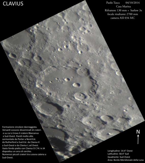 Luna cratere Clavius